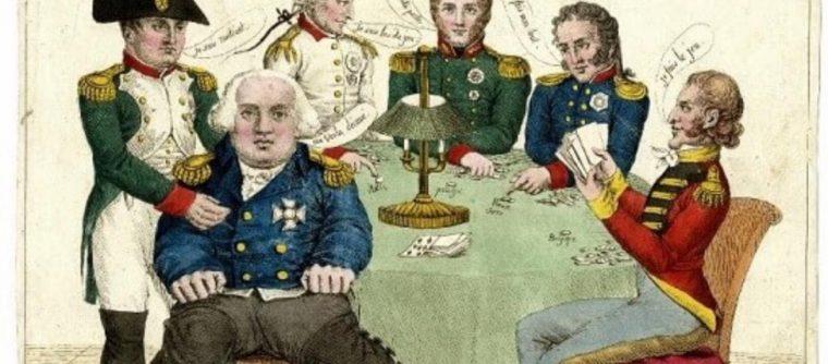 Bouillotte เกมการพนันในวงไพ่ เกิดในช่วงการปฏิวัติฝรั่งเศส ในศตวรรษที่ 18